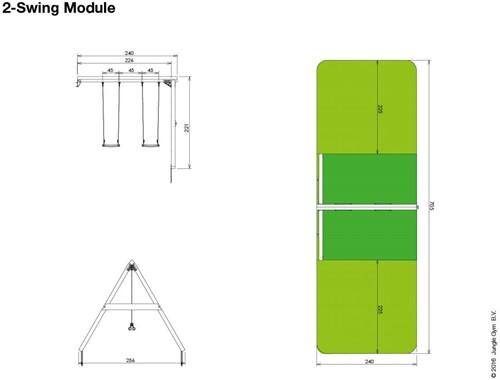 Jungle Gym Swing Module Duo, inclusief houtpakket-3