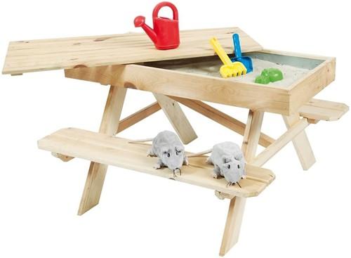 Kinderpicknicktafel met zandbak, 94x96x55 cm