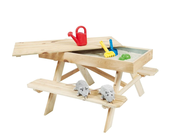 Outdoor Life Kinderpicknicktafel met zandbak, 94x96x55 cm