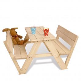 Outdoor Life Kinderpicknicktafel Noor, met rugleuning, 90x106x50 cm