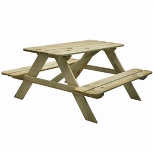 Kinderpicknicktafel, 90x90 cm, geimpregneerd grenen