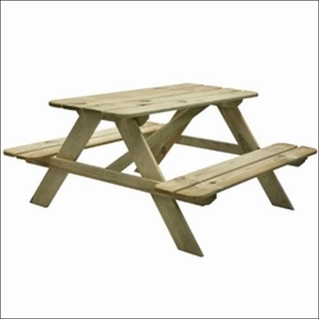 Outdoor Life Kinderpicknicktafel, 90x90 cm, geimpregneerd grenen