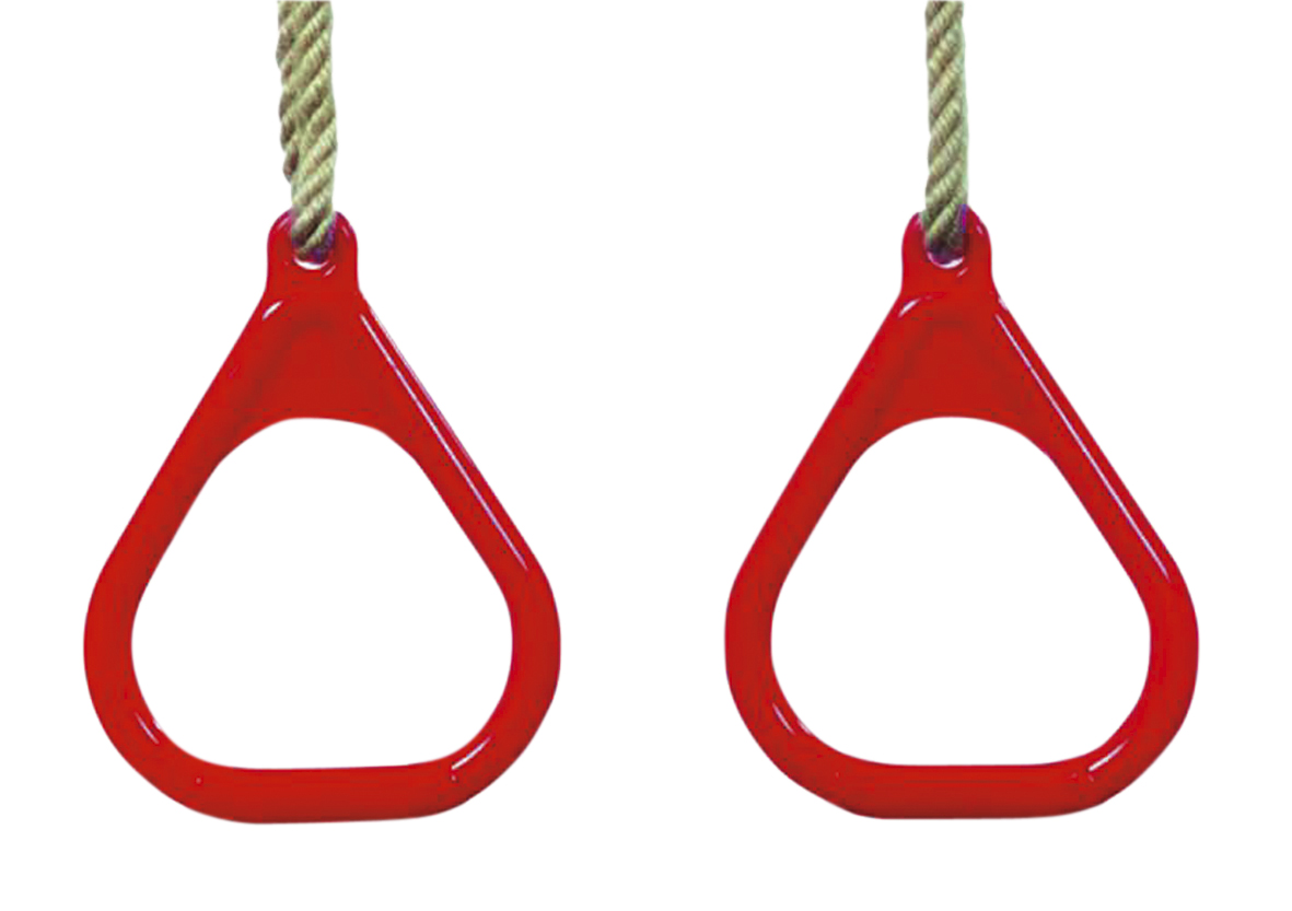 Kühlkamp Ringenset, driehoek, rood kunststof