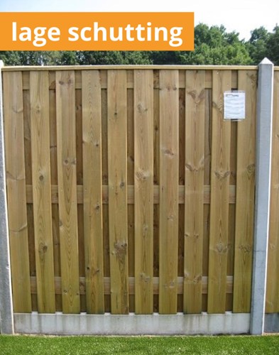hout/betonschutting 10x10, 22-planks laag scherm, lichtgewicht beton antraciet, per 0,95 m
