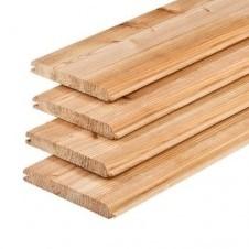 Dakplank, afm.  1,6 x 11,6 cm, lengte 500 cm, lariks/douglas