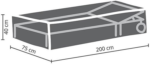 Distri-Cover beschermhoes ligbed, afm. 200 x 75 x 40 cm