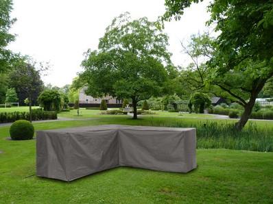 Distri-Cover loungesethoes L-hoek, afm. 300/90 x 300/90 x 70 cm.