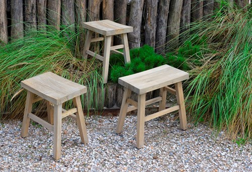 Max&Luuk Charly stool, teak, showmodel