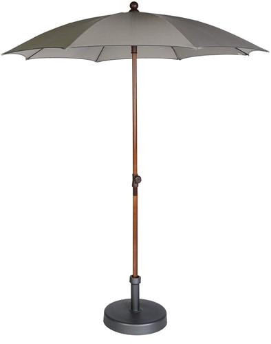 Max&Luuk Olivia parasol 200 cm taupe + parasolvoet, showmodel