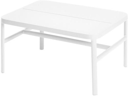 Max & Luuk Grace lage tafel/lage voetenbank alu - wit