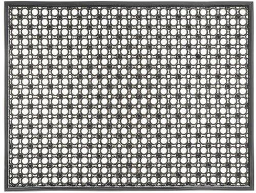 Deurmat Lizzy, afm. 48 x 62 cm, grijs