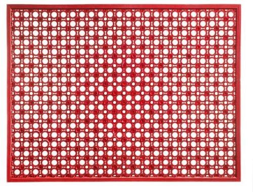 Deurmat Lizzy, afm.  48 x 62 cm, strawberry