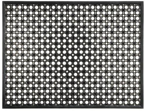 Deurmat Lizzy, afm. 48 x 62 cm, zwart