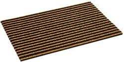 Deurmat Coco Bros stripe, afm.  50 x 75 cm, bruin/zwart gestreept