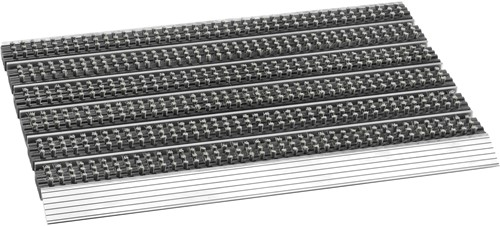 Avanti Style deurmat, afm.  75 x 45 cm, aluminium aanloopprofiel, grijs