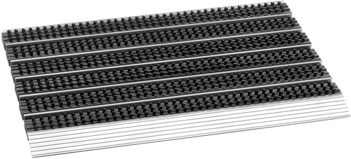 Avanti Style deurmat, afm. 75 x 45 cm. aluminium aanloopprofiel, zwart