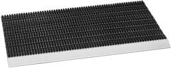 Avanti borstelmat, afm. 75 x 45 cm, aluminium aanloopprofiel, antraciet/zwart