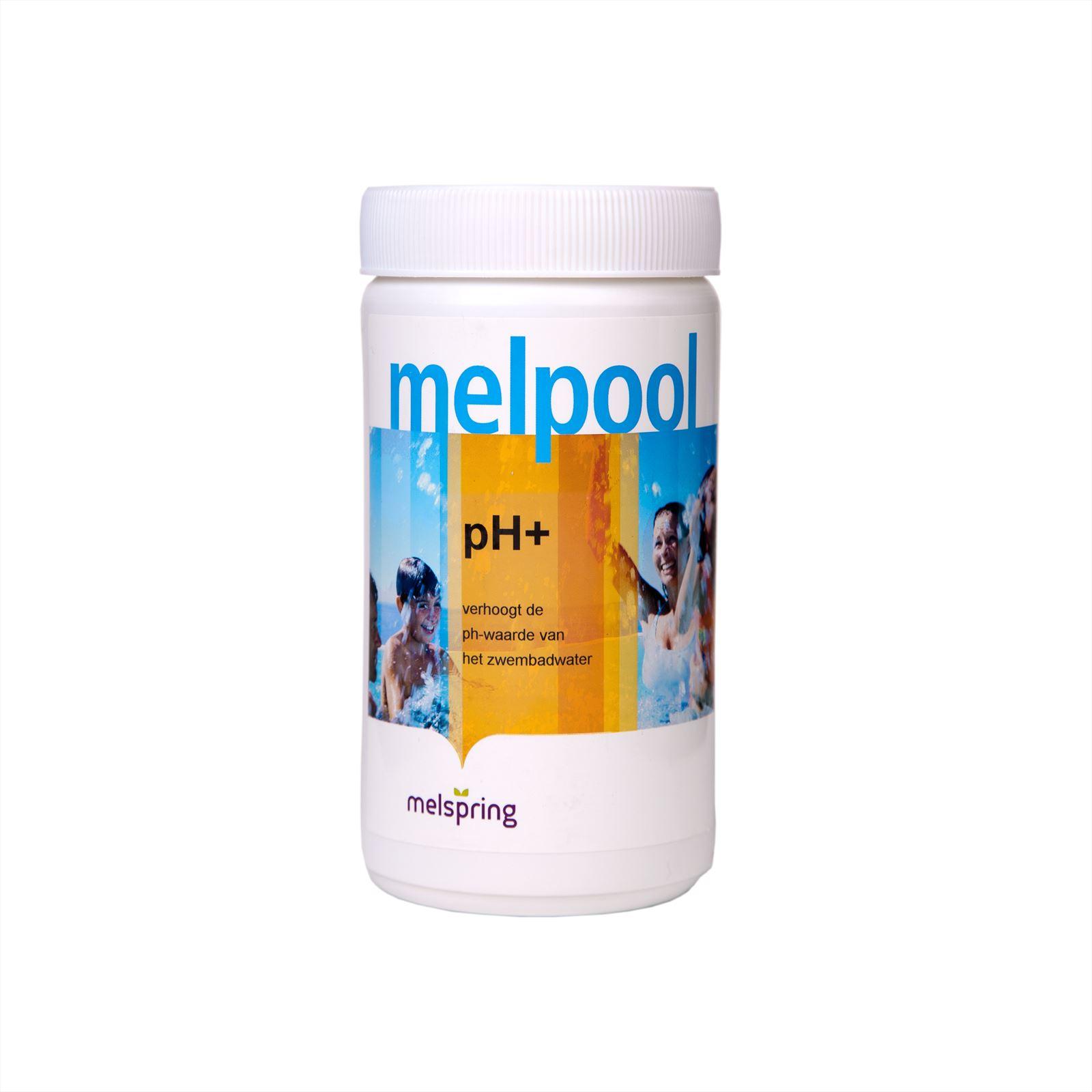 Melpool pH+, voor verhogen van pH-waarde van water in spabaden, 1 kg