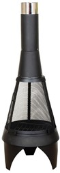 La Hacienda tuinhaard Mesh Colorado XL, diam. 60 cm, hoogte 160 cm, zwart gepoedercoat metaal