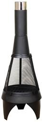 Red Fire tuinhaard Mesh Colorado / Kingston XL, diam. 60 cm, hoogte 160 cm, zwart gepoedercoat metaal
