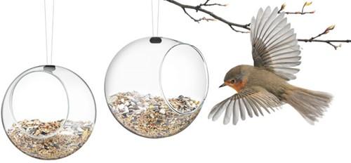 Eva Solo vogelvoederbol mini, breedte 12,3 cm,  hoogte 11 cm, glas, set 2 stuks