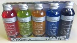 Badparfum mini, 5 verschillende geuren in flesjes van 60 ml