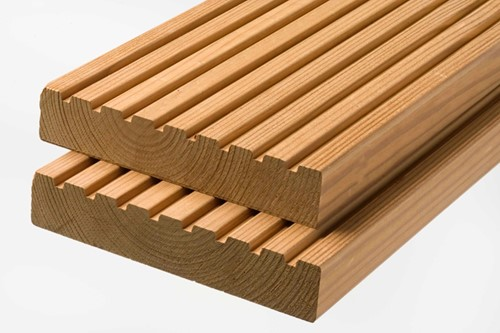 modiwood geprofileerd dekdeel, afm.  2,7 x 14,2 cm, lengte 390 cm