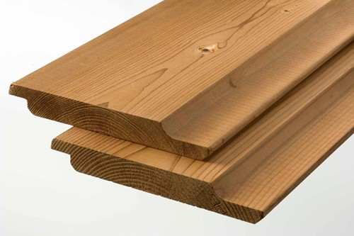 Komo rabat/gg-delen, afm.  1,9 x 14,2 cm, lengte 450 cm, modiwood