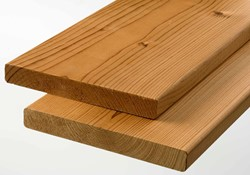 modiwood geschaafde plank, afm. 1,9 x 14,2 cm, lengte 360 cm