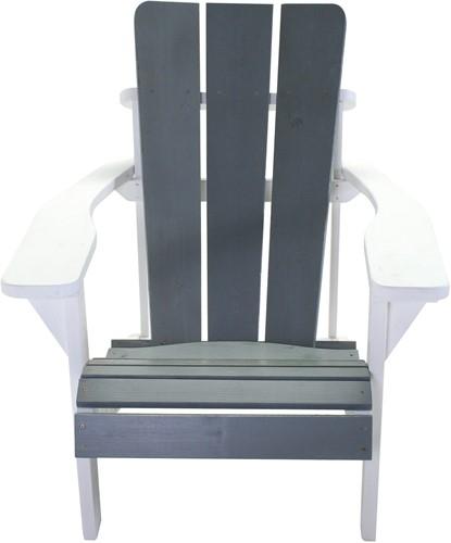 Montreal stoel, afm. ca 75  x 77,5 x 89,5 cm, vurenhout, wit-grijs