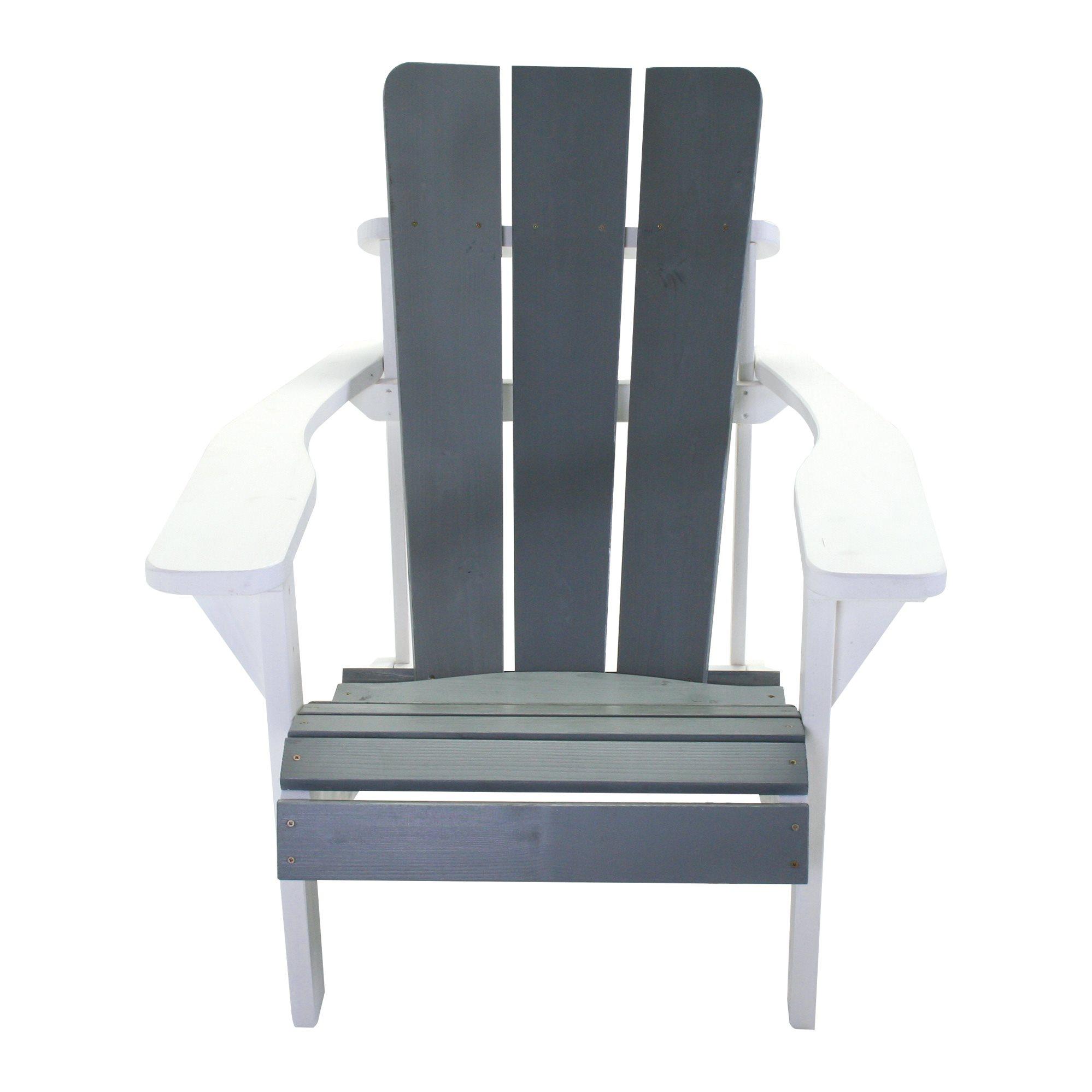 SenS-Line Montreal stoel, afm. ca 75 x 77,5 x 89,5 cm, vurenhout, wit-grijs