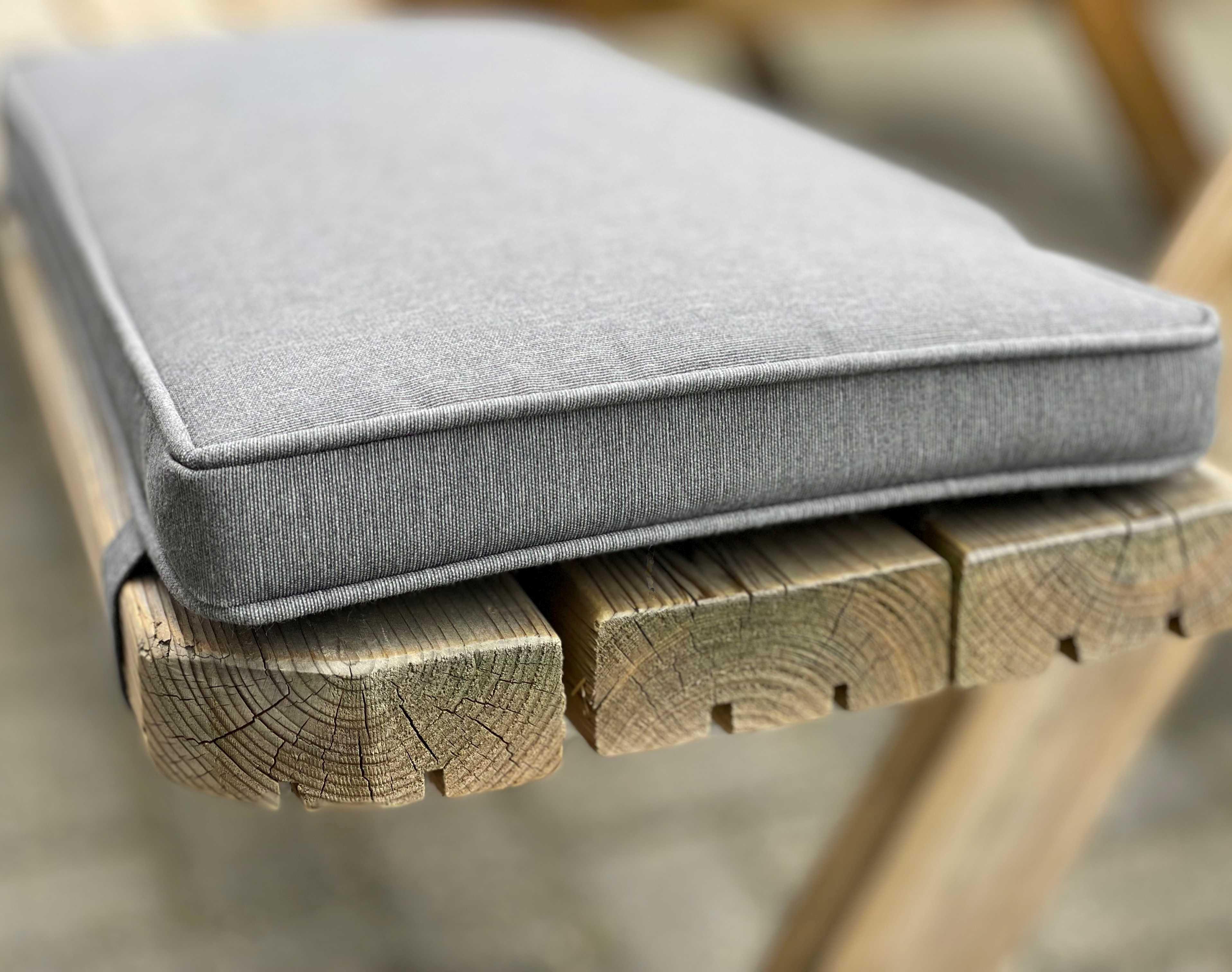 Madison tuinkussen picknicktafel, 28 x 60 cm (1-zits) - panama grey