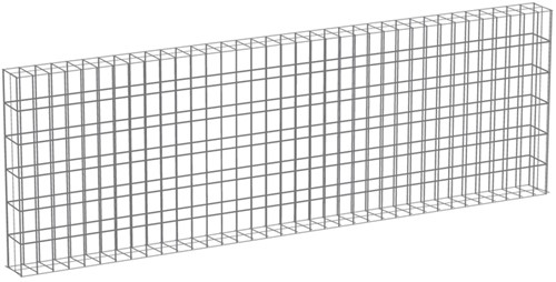 Muurkorf, afm. 180 x 60 x 12 cm, verzinkt staal,  maas 3 x 3 cm