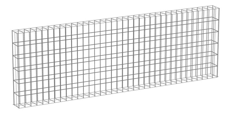 Garden Trade Muurkorf, afm. 180 x 60 x 12 cm, verzinkt staal, maas 3 x 3 cm