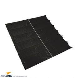 Nesling Coolfit harmonica schaduwdoek, afm. 2 x 4 m, zwart