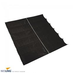Nesling Coolfit harmonica schaduwdoek, afm. 2 x 5 m, zwart