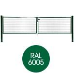 Garden Trade Napoli dubbele poort (2 x 200 cm), vuurverzinkt en expoxy-gecoat - poorthoogte 120 cm - paalhoogte 170 cm - groen (RAL 6005)