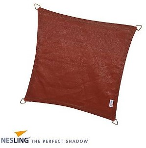 Nesling Coolfit schaduwdoek, vierkant, afmeting 3,6 x 3,6 m, terra