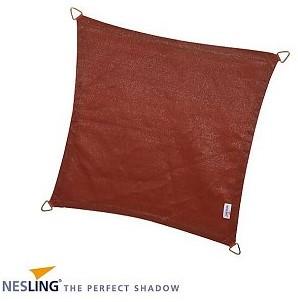 Nesling Coolfit schaduwdoek, vierkant, afmeting 5 x 5 m, terra