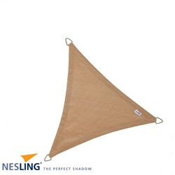 Nesling Coolfit schaduwdoek, driehoek, afmeting 3,6 x 3,6 x 3,6 m, zand