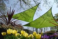 Nesling Coolfit schaduwdoek, vierkant, afmeting 5 x 5 m, lime groen-3