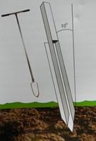Paalanker voor paal met flex oog
