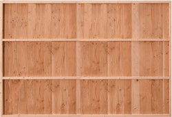 Douglasvision Wand B, verticale wanden, enkelzijdig halfhouts Zweeds rabat, afm. 228,5 x 232 cm - onbehandeld (blank)