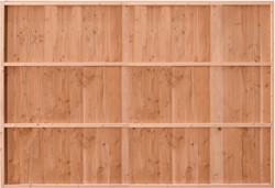 Douglasvision Wand B, verticale wanden, enkelzijdig halfhouts Zweeds rabat, afm. 228,5 x 232 cm
