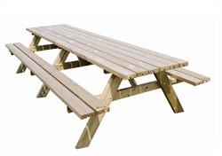 Picknicktafel, afm. 300 x 154 cm, geimpregneerd grenen, houtdikte 42 mm, opklapbare zitting