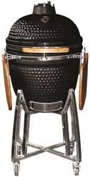 Kamado keramische barbecue/smoker/oven voor houtskool, afm. 121 x 130 x 73 cm, zwart