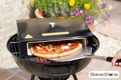 BBGrill Bakerstone pizza oven box Medium, afm. 42 x 36 x 13 cm, inclusief pizzasteen en thermometer