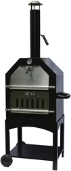 BBGrill Pizza oven / barbecue / tuinhaard Lorenzo, afm. 106 x 51 x 38 cm