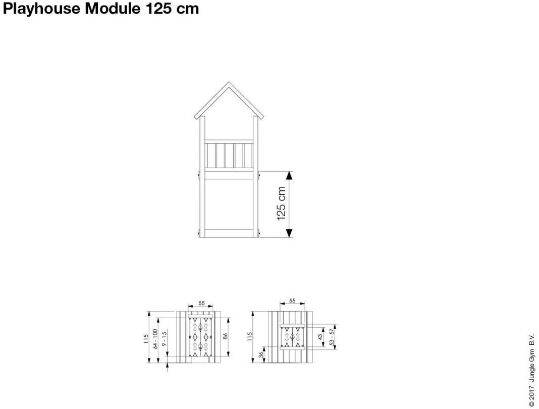 playhouse with carport with Houtpakket Voor Jungle Gym Playhouse Module Laag Model 125 Cm Niet Op Maat Gezaagd on Plan details also Hp On Floor Plan further Coop Build 2011 as well Workbench Plans Lowes Plans Free Download besides How To Build A Wood Awning Frame.