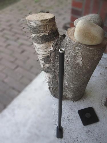 flamman met voetplaat